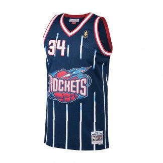 CAMISETA NBA HOUSTON ROCKETS HAKEEM OLAJUWON 34 (AZUL)