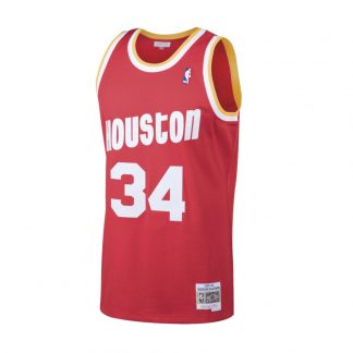 CAMISETA NBA HOUSTON ROCKETS HAKEEM OLAJUWON 34 (ROJO)
