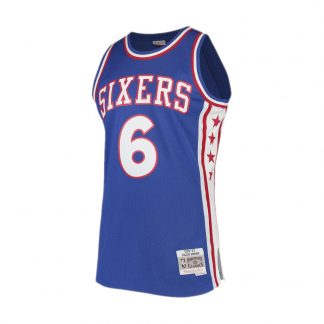 CAMISETA NBA PHILADELPHIA 76ERS JULIUS ERVING 6 (AZUL)